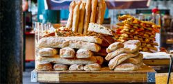 best of British - bread rolls at London's famous Borough Market