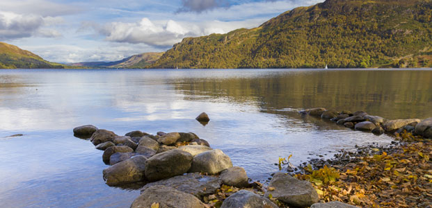 Ullswater, in autumn, at evening, The Lake District