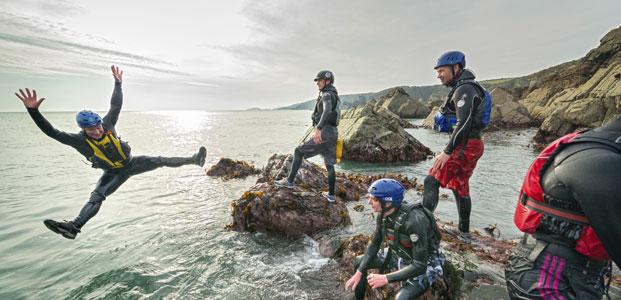 Coasteering, Wales