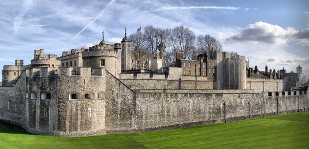The Tower of London - a lesser known as royal palace - at winter