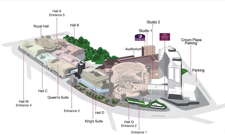 Harrogate Convention Centre Floorplan